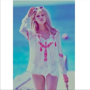 Free People Fondly St. Tropez Embroidered Tunic